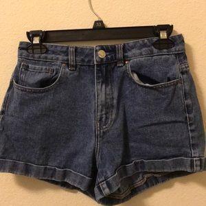 High waisted pacsun denim mom shorts size 24